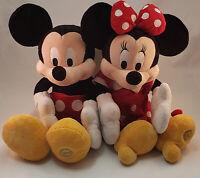 "Disney Store 18"" Mickey Mouse & Friends Minnie Mouse Stuffed Plush Couple Set"