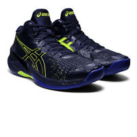 Asics Mens Sky Elite FF MT Indoor Court Shoes Navy Blue Sports Squash Handball
