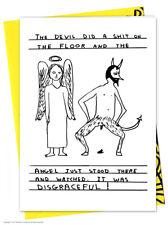 David Shrigley grossier anniversaire carte de voeux Humour Comédie Coquin blague