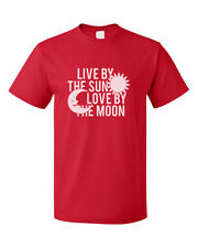 Live By The Sun Love By The Moon Cotton Unisex T-Shirt Tee Top