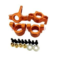 AXIAL WRAITH ACCESSORIES 1/10 ALLOY STEERING FRONT KNUCKLES C HUB SET - ORANGE