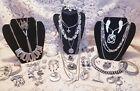 Vintage & Modern Silvertone Costume Jewelry Lot - Monet,Trifari