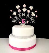 Farm animal, yard, sheep (pig, cow) birthday cake topper, personalised name, age