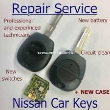 REPAIR SERVICE for Nissan X-Trail Almera Tino 2 button remote key refurbishment