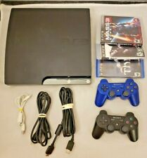 Sony PlayStation 3 PS3 Slim 120GB Console Bundle 2 Controller 3 Games CECH-2001A