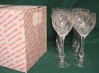 Nachtmann TIFFANY Burgundy Glasses SET OF SIX More Avail Gorham CHAPELLE Goblets