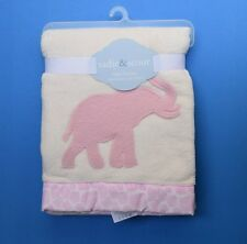 Elephant Applique Blanket - Pink and Ivory by Sadie & Scout