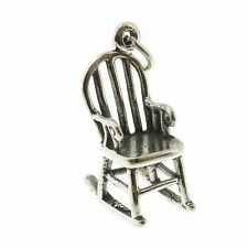 925 Sterling Silver Bent Wood Rocker Chair Charm Made in USA