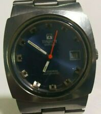 Tissot SIDERAL VINTAGE watch Swiss AUTOMATIC special blue gentleman date rare