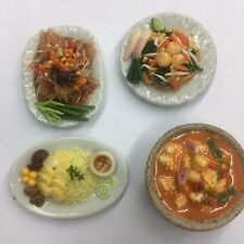 thai street food miniature dollhouse handmade  collective vareity set of 4 pcs