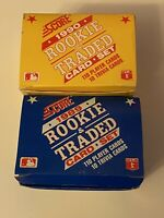 (2) 1989 & 90 Score Traded Baseball Set Lot - FRANK THOMAS KEN GRIFFEY JR ROOKIE
