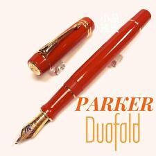 Parker Duofold Centennial Orange Red 18K nib Fountain Pen