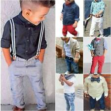 Kids Boys Gentleman Outfit Suit Casual Tops Pants Baby Toddler Casual Clothes