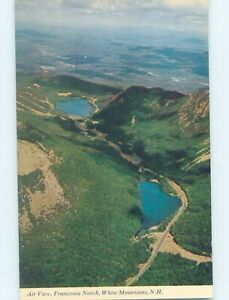 Unused Pre-1980 AERIAL VIEW Franconia Notch New Hampshire NH A4643