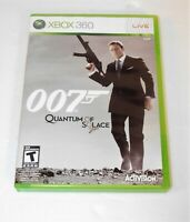 007 QUANTUM OF SOLACE XBOX 360 COMPLETE IN BOX W/ MANUAL CIB VERY GOOD