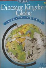 "12"" Inflatable Dinosaur Kingdom globe inflate & rotate Galileo Educational New"