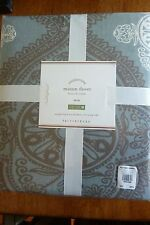 NWT Pottery Barn Eco Friendly Mason Duvet Cover Blue Twin 68x86 inches Oeko-
