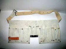 Borsa camoscio doppia carpentiere muratore porta attrezzi cintura vintage 80/90
