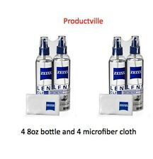 4 Pack Zeiss Lens Cleaner Spray 8 Oz Bottles for Glasses Camera Laptops 32oz + 4