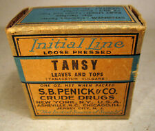 Tansy Leaves Tops Initial Line Antique Herbal Medicine Penick Crude Drugs Quack