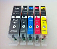 5pK PGI250 BK CLI251 XL Ink Cartridge for Canon Pixma MX922 MX722 iP8720 iP7220