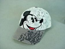 Mickey Mouse Pie Eyed White Baseball Cap with Tan Bill Disneyland - New