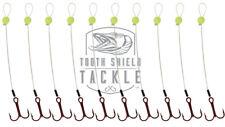 Tooth Shield Tackle 10 Pack Walleye Trailer Hook Stinger Hooks Vmc Fluorocarbon