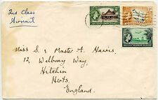 BRITISH SOLOMON ISLANDS 1/- + 9d + 2d PICTORIALS 1964 to HITCHIN GB