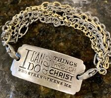 4:13 Great w/ Lenny and Eva Traditions Mixed Metal Link W Philippians