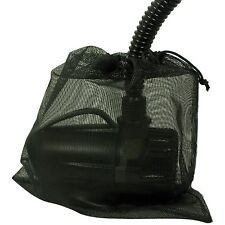 """BLACK Large Water Pump Filter Bag 12"""" x 10"""" Protects from Particles Dirt Debris"""