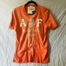 NWT Mens Muscle Fit Abercrombie & Fitch Crew Neck Tee Distressed Look, Size M