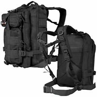 EDC Outdoor Military Tactical Backpack Rucksack Hiking Camp Travel Bag Black