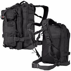 EDC Outdoor Military Tactical Backpack Rucksack Hiking Camp Travel Bag Black
