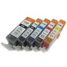 PGI-525BK CLI-526Bk C M Y Compatible Black Colour 5 Inks Cartridge Set For Canon