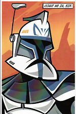 Animated Star Wars - STORM TROOPER PRINT HAND SIGNED Jorge Baeza