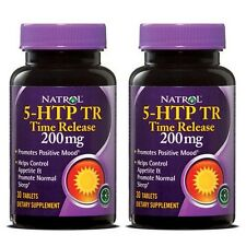2x Natrol 5-HTP TR Time Release 200mg 60 Tabs