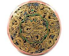 "19thC China ""Ming Style� Sancai Porcelain Camel Head Deer Antler Dragon Plaque"