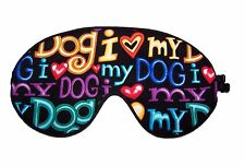 Travel Eye Sleep/Sleeping Mask -  I LOVE MY DOG made by Graggie Australia*GA