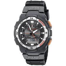 Casio Mens Twin Sensor Multi-Function Analog Digital Watch Black - SGW500H-1BV