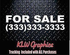 FOR SALE w/ number * Vinyl Decal Sticker Car SUV Diesel Truck Crew Cab 1500 JDM