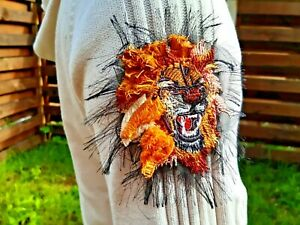Lion Small Handmade Embroidered Patch