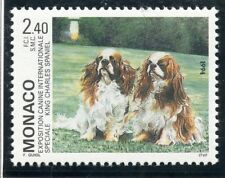 STAMP / TIMBRE DE MONACO N° 1930 ** FAUNE / CHIEN / KING CHARLES SPANIEL