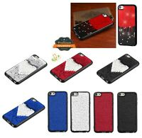 Apple New iPod Touch 7 5 6 Gen Hybrid BLING Glitter Rubber Silicone Case Cover