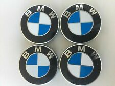 Set of 4 Wheel Center Caps Blue White 68mm Rim Hubcaps Emblems Cover fit for BMW
