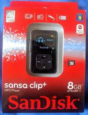 New SANDISK SANSA CLIP+ 8GB BLACK Digital Media Player MP3 Player Plus