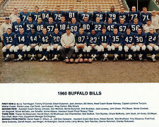 Buffalo Bills 1960 - 8x10 Color Team Photo