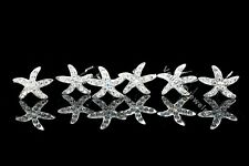 6 Pcs Starfish Bridal Wedding Prom Crystal Rhinestone Hair Pins H32
