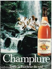Publicité Advertising 1990 Le Vin Rosé Champlure