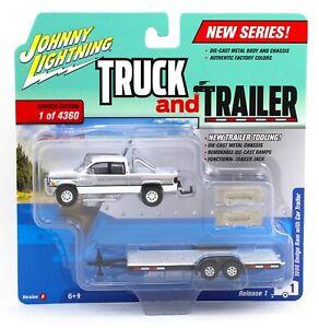 Johnny Lightning *TRUCK & TRAILER 1B* 1996 Dodge Ram Pickup w/Flatbed *NIP*