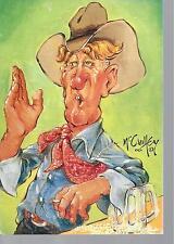 Happy Birthday Greeting card, Western,Cowboy drinking